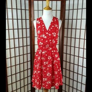 EVERLY Rose Floral Sleeveless Casual Dress